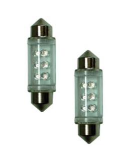 LED žiarovka C5W 12V - červená  39mm 2ks/set