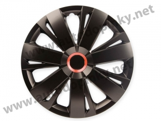 "Kryty kolies Energy Black Red 13""  4ks"