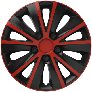 "Kryty kolies Rapide Black Red 16""  4ks"