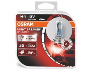 H4 OSRAM Night Breaker Unlimited +110% 12V 60/50W P43t BOX 2ks