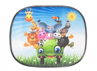 Clona farebná animals car 45x36 cm - 2ks