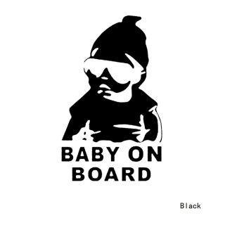 "Nálepka ""Baby On Board""  Black"