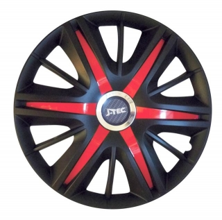 "Kryty kolies Maximus Black Red 16"" 1ks"